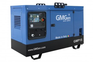 Photo of diesel genset GMP15 in canopy.