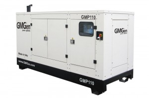 Photo of diesel genset GMP110 in canopy.