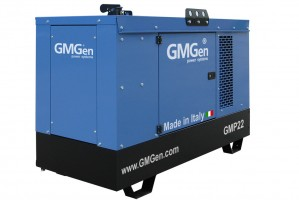 Photo of diesel genset GMP22 in canopy.
