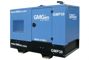 Photo of diesel genset GMP30 in canopy.