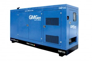Photo of diesel genset GMP330 in canopy.