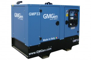 Photo of diesel genset GMP33 in canopy.
