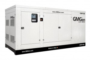 Photo of diesel genset GMP400 in canopy.