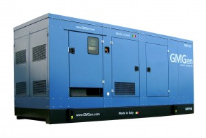 Photo of diesel genset GMP550 in canopy.
