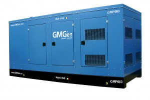 Photo of diesel genset GMP660 in canopy.
