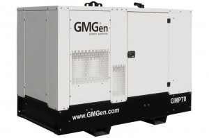 Photo of diesel genset GMP70 in canopy.